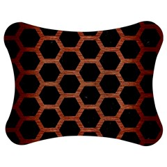 Hexagon2 Black Marble & Copper Brushed Metal Jigsaw Puzzle Photo Stand (bow)