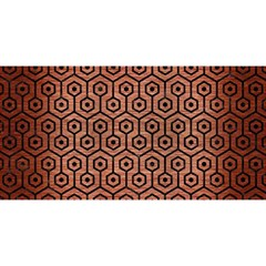 Hexagon1 Black Marble & Copper Brushed Metal (r) You Are Invited 3d Greeting Card (8x4)