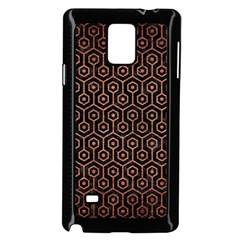Hexagon1 Black Marble & Copper Brushed Metal Samsung Galaxy Note 4 Case (black)
