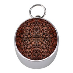 Damask2 Black Marble & Copper Brushed Metal (r) Silver Compass (mini)