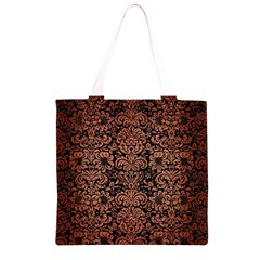 DMS2 BK MARBLE COPPER Grocery Light Tote Bag