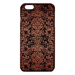 Damask2 Black Marble & Copper Brushed Metal Iphone 6 Plus/6s Plus Tpu Case
