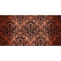 Damask1 Black Marble & Copper Brushed Metal (r) You Are Invited 3d Greeting Card (8x4)