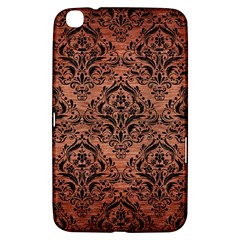 Damask1 Black Marble & Copper Brushed Metal (r) Samsung Galaxy Tab 3 (8 ) T3100 Hardshell Case