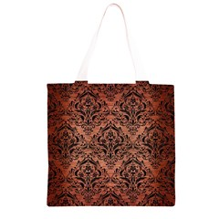 DMS1 BK MARBLE COPPER (R) Grocery Light Tote Bag
