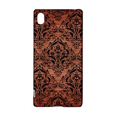 Damask1 Black Marble & Copper Brushed Metal (r) Sony Xperia Z3+ Hardshell Case