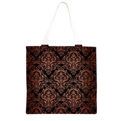 DMS1 BK MARBLE COPPER Grocery Light Tote Bag