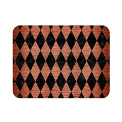 Diamond1 Black Marble & Copper Brushed Metal Double Sided Flano Blanket (mini)