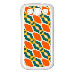 Chains And Squares Pattern samsung Galaxy S3 Back Case (white)