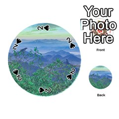 Fantasy Landscape Photo Collage Playing Cards 54 (Round)