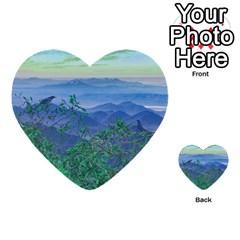 Fantasy Landscape Photo Collage Multi-purpose Cards (Heart)