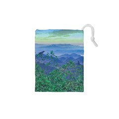 Fantasy Landscape Photo Collage Drawstring Pouches (XS)