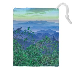 Fantasy Landscape Photo Collage Drawstring Pouches (xxl)