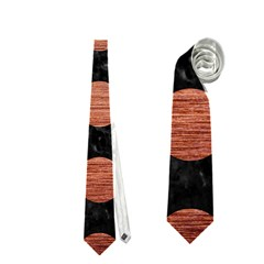 Circles2 Black Marble & Copper Brushed Metal Necktie (two Side)