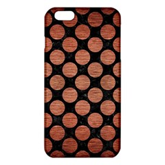 Circles2 Black Marble & Copper Brushed Metal Iphone 6 Plus/6s Plus Tpu Case