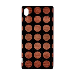 Circles1 Black Marble & Copper Brushed Metal Sony Xperia Z3+ Hardshell Case
