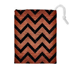CHV9 BK MARBLE COPPER (R) Drawstring Pouches (Extra Large)