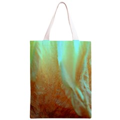 Floating Teal and Orange Peach Classic Light Tote Bag