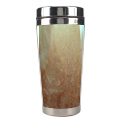 Floating Subdued Orange And Teal Stainless Steel Travel Tumblers