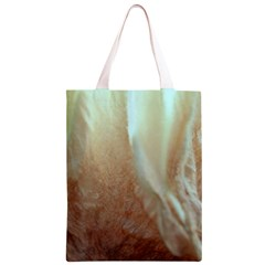 Floating Subdued Orange and Teal Classic Light Tote Bag