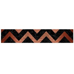 Chevron9 Black Marble & Copper Brushed Metal Flano Scarf (large)