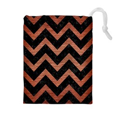 CHV9 BK MARBLE COPPER Drawstring Pouches (Extra Large)