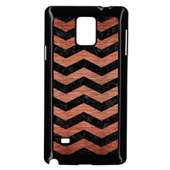 Chevron3 Black Marble & Copper Brushed Metal Samsung Galaxy Note 4 Case (black)