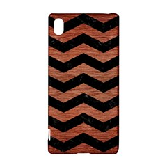Chevron3 Black Marble & Copper Brushed Metal Sony Xperia Z3+ Hardshell Case