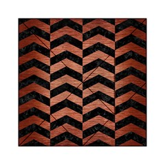 Chevron2 Black Marble & Copper Brushed Metal Acrylic Tangram Puzzle (6  X 6 )