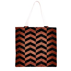 CHV2 BK MARBLE COPPER Grocery Light Tote Bag