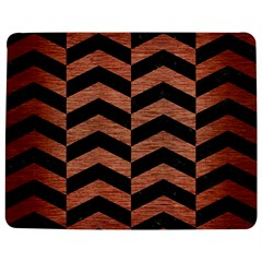 Chevron2 Black Marble & Copper Brushed Metal Jigsaw Puzzle Photo Stand (rectangular)