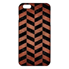 Chevron1 Black Marble & Copper Brushed Metal Iphone 6 Plus/6s Plus Tpu Case