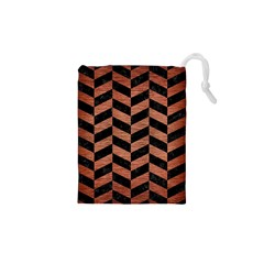 CHV1 BK MARBLE COPPER Drawstring Pouches (XS)