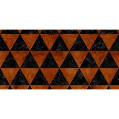 Triangle3 Black Marble & Brown Burl Wood You Are Invited 3d Greeting Card (8x4)