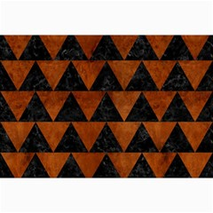Triangle2 Black Marble & Brown Burl Wood Collage 12  X 18