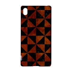 Triangle1 Black Marble & Brown Burl Wood Sony Xperia Z3+ Hardshell Case