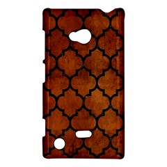 Tile1 Black Marble & Brown Burl Wood (r) Nokia Lumia 720 Hardshell Case