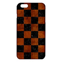 Square1 Black Marble & Brown Burl Wood Iphone 6 Plus/6s Plus Tpu Case