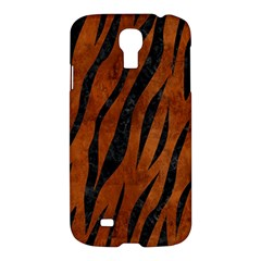 Skin3 Black Marble & Brown Burl Wood (r) Samsung Galaxy S4 I9500/i9505 Hardshell Case