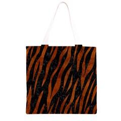 SKN3 BK MARBLE BURL Grocery Light Tote Bag