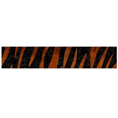 Skin3 Black Marble & Brown Burl Wood Flano Scarf (large)