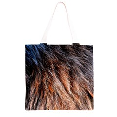 Black Red Hair Grocery Light Tote Bag