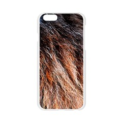Black Red Hair Apple Seamless iPhone 6/6S Case (Transparent)