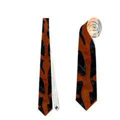 Skin2 Black Marble & Brown Burl Wood Necktie (one Side)