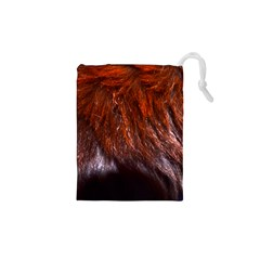 Red Hair Drawstring Pouches (XS)