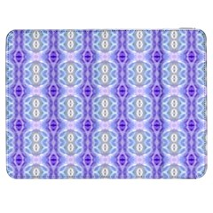 Light Blue Purple White Girly Pattern Samsung Galaxy Tab 7  P1000 Flip Case