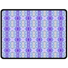 Light Blue Purple White Girly Pattern Double Sided Fleece Blanket (large)