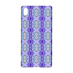 Light Blue Purple White Girly Pattern Sony Xperia Z3+
