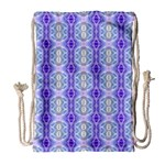 Light Blue Purple White Girly Pattern Drawstring Bag (Large) Front
