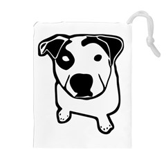 Pit Bull T-Bone Graphic Drawstring Pouch (XL)